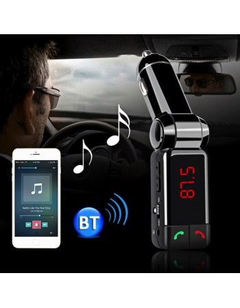 Modulator-Incarcator auto Bluetooth dual port cu MP3, Radio, handsfree, display